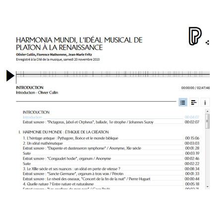 Conférences en ligne : Harmonia mundi, l'idéal musical de Platon à la Renaissance