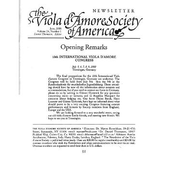 Viola d'amore society of America
