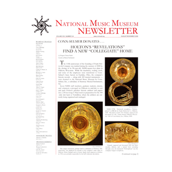 National music museum newsletter