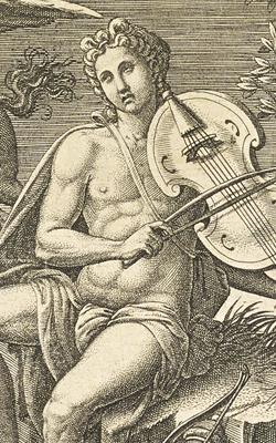 APOLLON SUR LE PARNASSE AU MILIEU DES MUSES - Musée de la musique