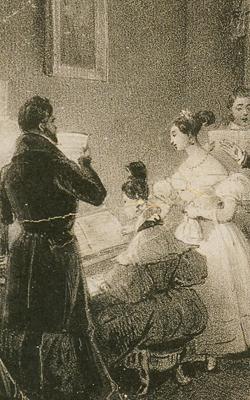 Dessin chant, piano - Musée de la musique