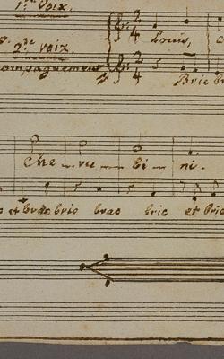 PARTITION DE CHERUBINI ET FAIRE-PART DE SON SERVICE FUNÈBRE - Musée de la musique