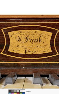 PIANO DROIT - Musée de la musique