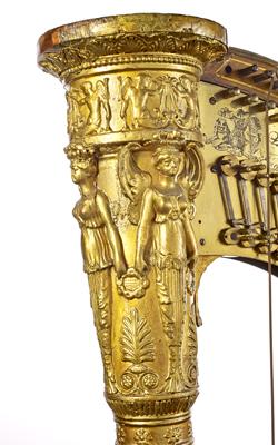 Harpe à double mouvement Erard - Musée de la musique