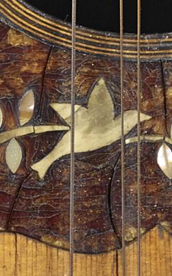 Mandoline de type napolitaine - Musée de la musique