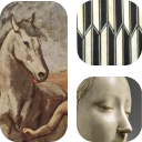 Mozaïque de détails de photos des oeuvres du Musée de la musique