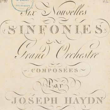 Couverture de la partition des Six symphonies de J. Haydn