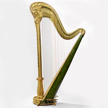 Harpe double mouvement,Maison Erard,1873, Musée de la musique©Germain