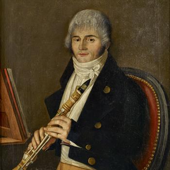 Portrait d'un clarinettiste, Brigide Vincent, 1801, Musée de la musique©Germain