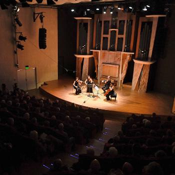photo Gil Lefauconnier. Quatuor Voce à l'amphithéâtre, 13 janvier 2018