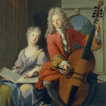 La leçon de musique, Jean-Marc Nattier, 1710, Musée de la musique©Anglès