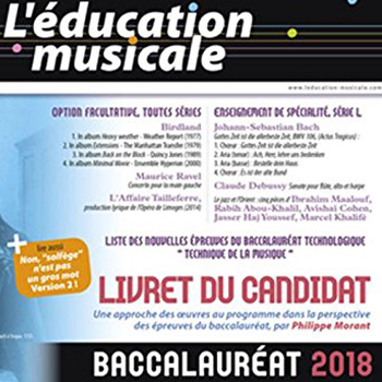 Education musicale - Baccalauréat 2018
