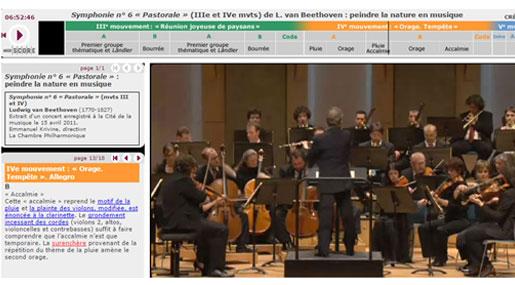 Guide d'écoute la pastorale, élaboré par la Philharmonie de Paris