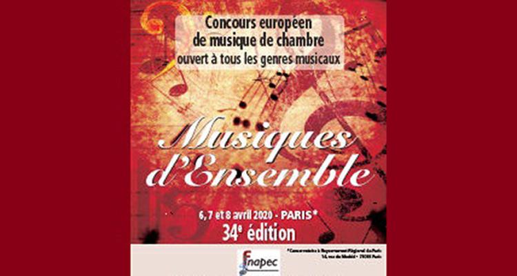 Affiche Concours Musiques d'ensemble - Fnapec