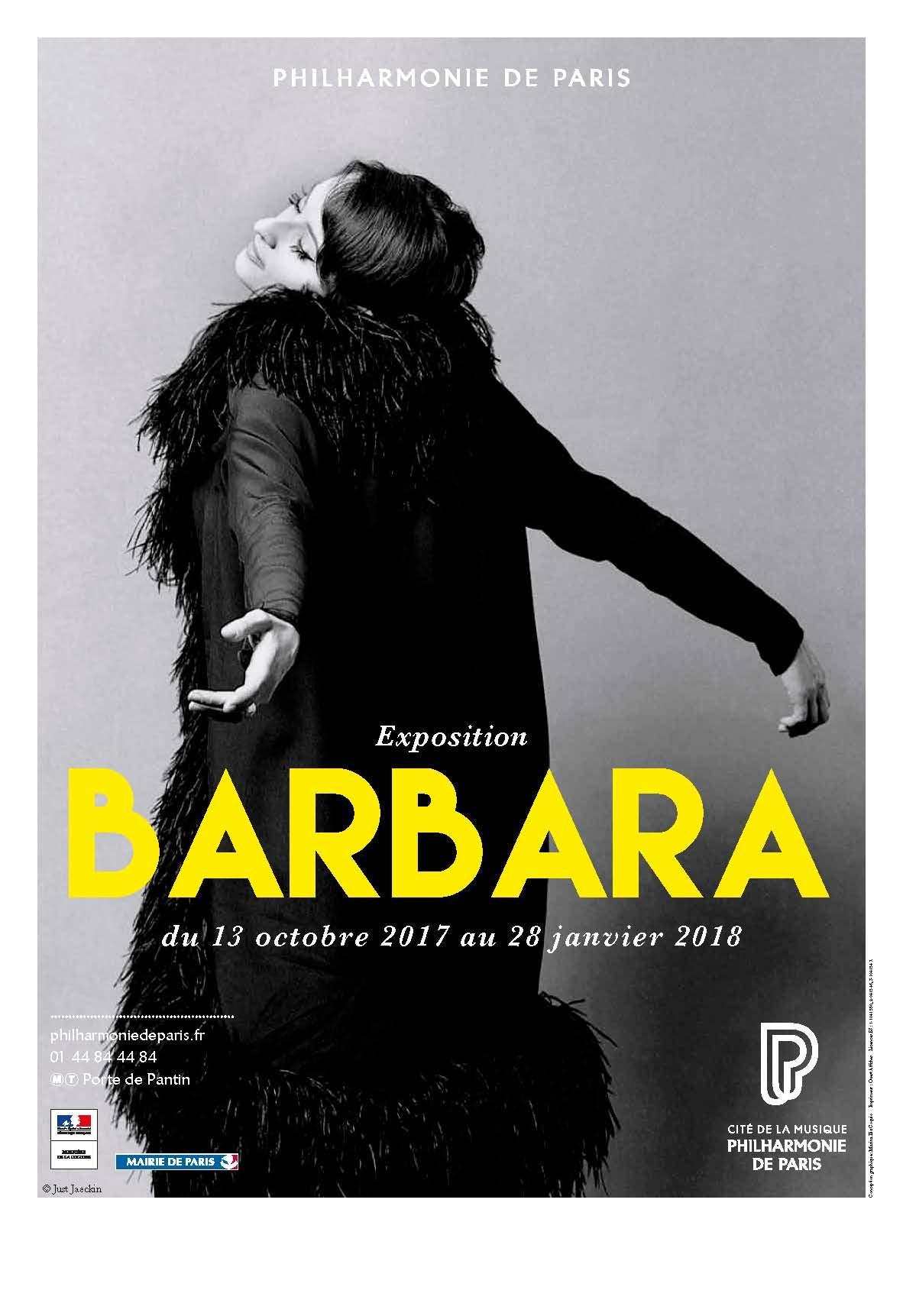 Barbara. Exposition du 13 octobre 2017 au 28 janvier 2018 |