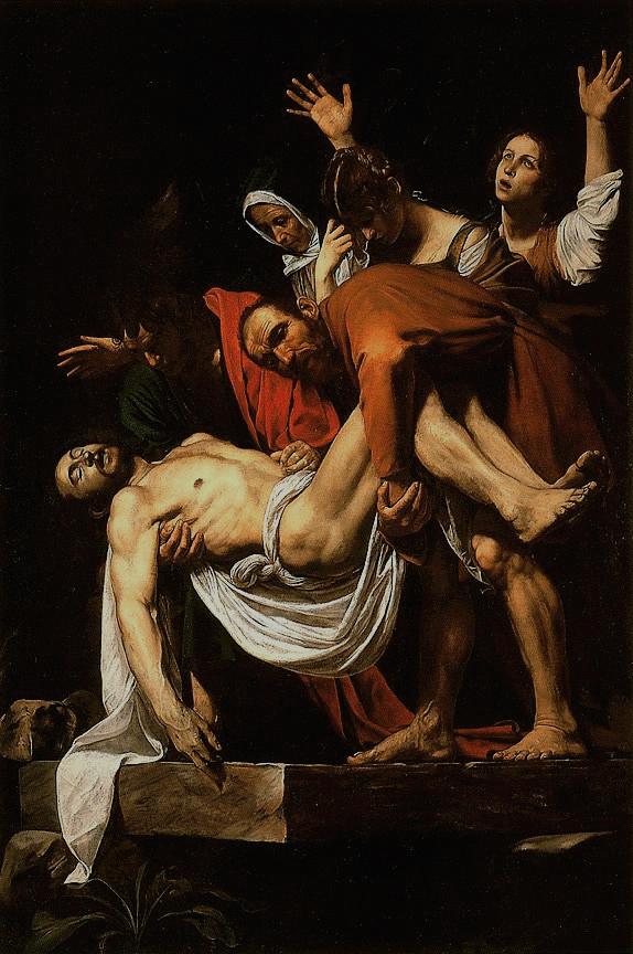 Le Christ mis au tombeau, par Le Caravage, vers 1602-1603 © Pinacothèque - Musées du Vatican