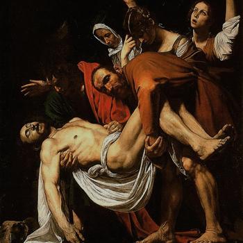Le Christ mis au tombeau, par Le Caravage, vers 1602-1603 © Pinacothèque Musées du Vatican