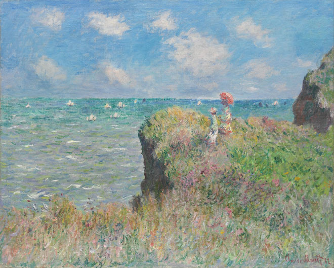 Promenade au bord d'une falaise à Pourville, par Claude Monet, 1882 © Art Institute of Chicago