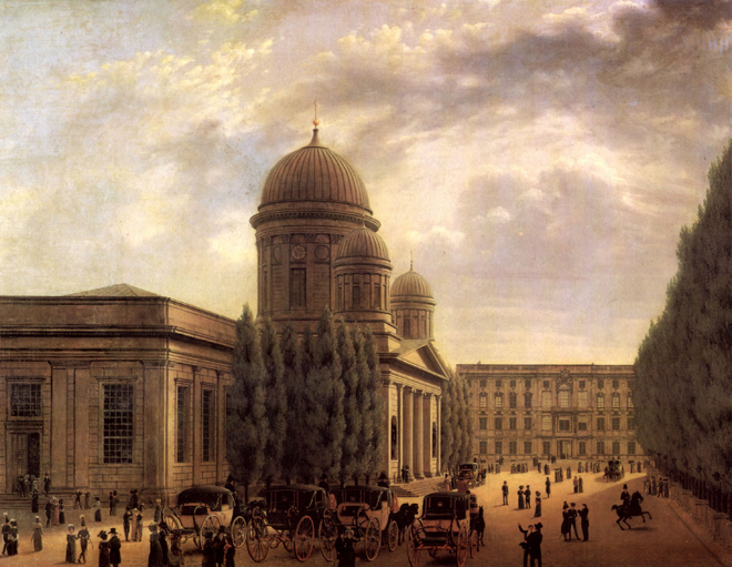 La Cathédrale de Berlin, de Carl Hasenpflug, 1825. Source : Märkisches Museum/CC0
