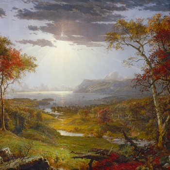 Autumn on the Hudson River, de Jasper Francis Cropsey, 1860. Source : National Gallery of Art