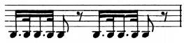 ostinato rythmique de l'Adagio
