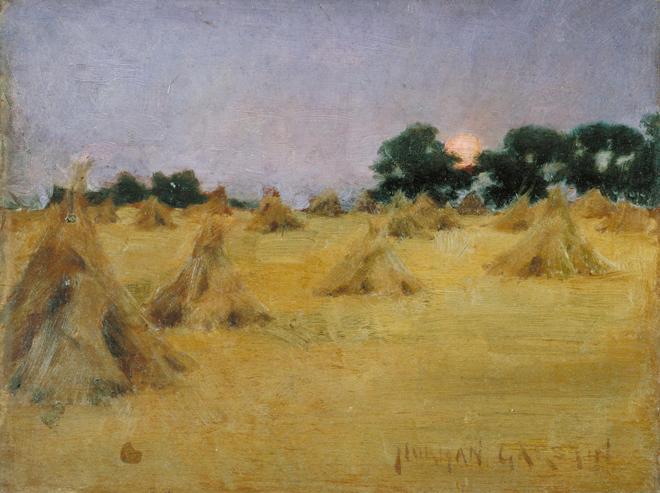 Meules de foin et soleil, de Norman Garstin, 1886. Source: Tate Gallery/CC-BY-NC-ND