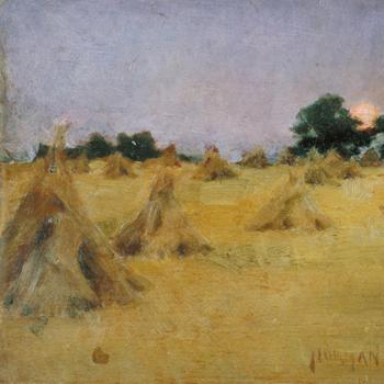 Meules de foin et soleil de Norman Garstin, 1886, Tate Gallery CC-BY-NC-ND