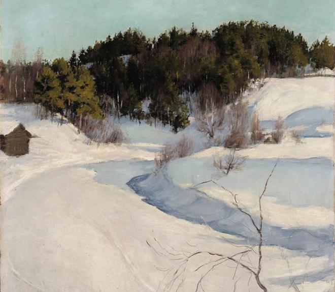 Paysage d'hiver, de Pekka Halonen, 1896. Source: Finnish National Gallery/CC0