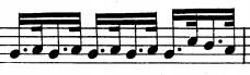 Ostinato rythmique du Largo